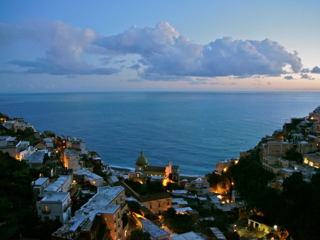 Positano night view