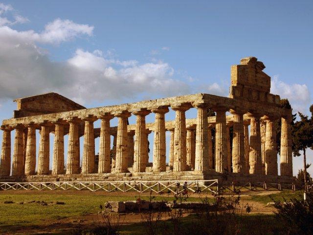 temple ruins in Paestum