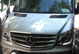 mini bus Mercedes of the Positano Car Service's Car Park