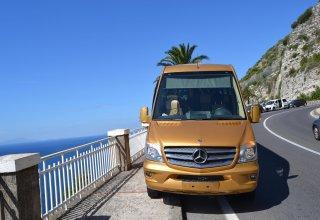 bus Mercedes of the Positano Car Service's Car Park
